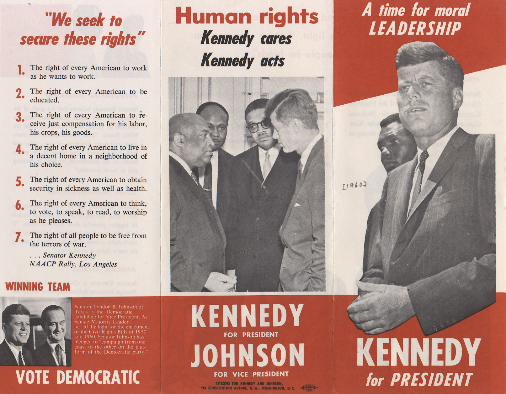 JFK and the Public View – Election Brochure