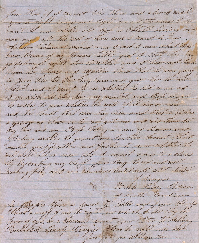 Vilet Lester Letter