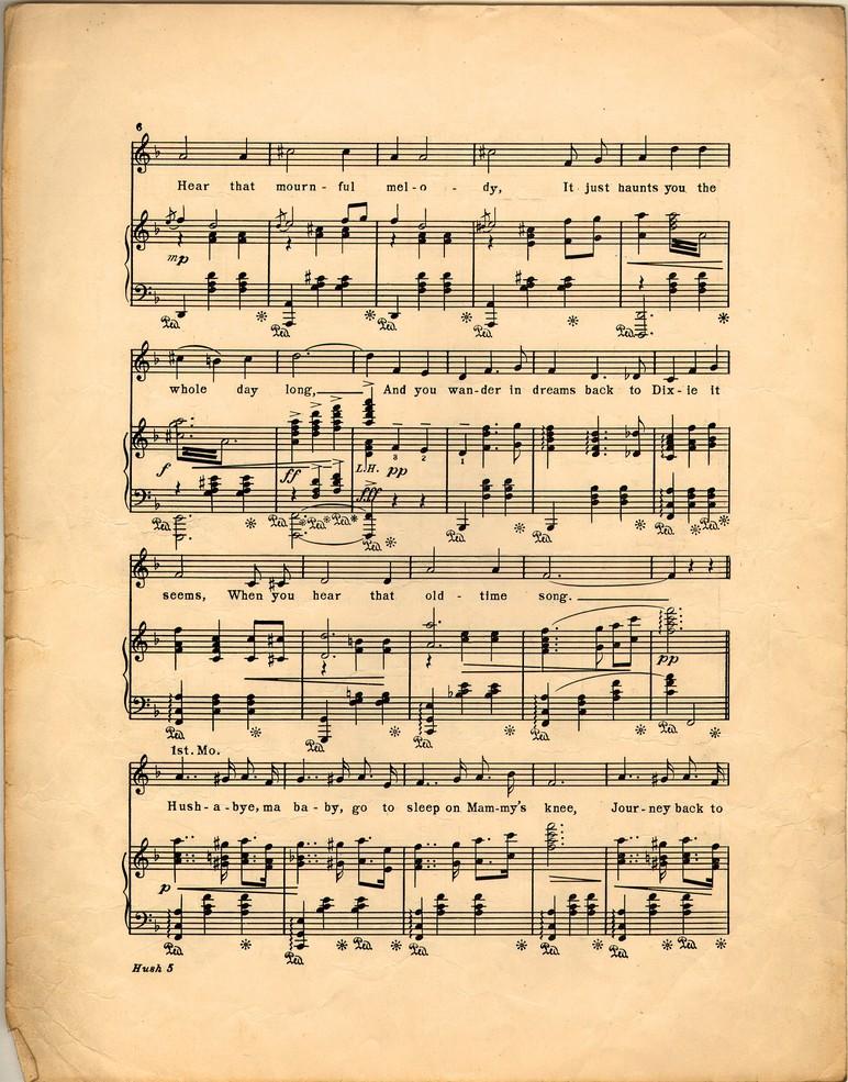 72dpi Of Hushabye Ma Baby Missouri Waltz: Historic American Sheet Music At Alzheimers-prions.com