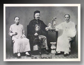James A. Thomas and Two Eunuchs, China, early twentieth century