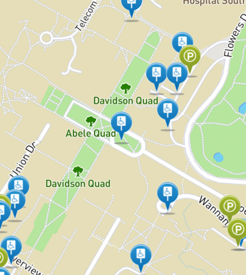 Find Parking near the Libraries
