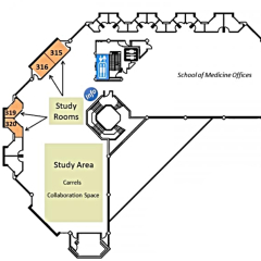 Medical Center Library Floor Plans