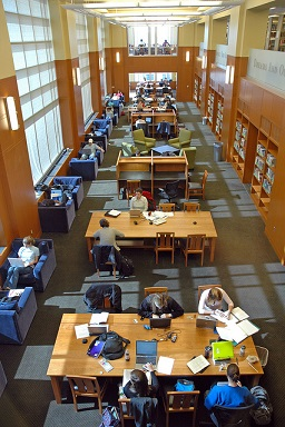 photo of carpenter reading room
