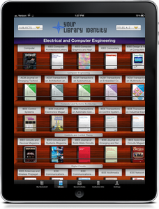 BrowZine bookshelf