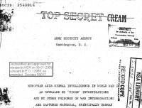 Top Secret declassified US document