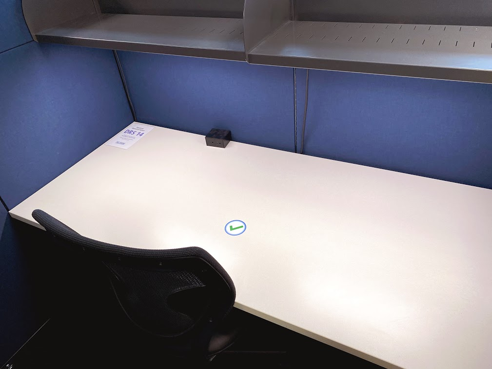 A desk in the DRS