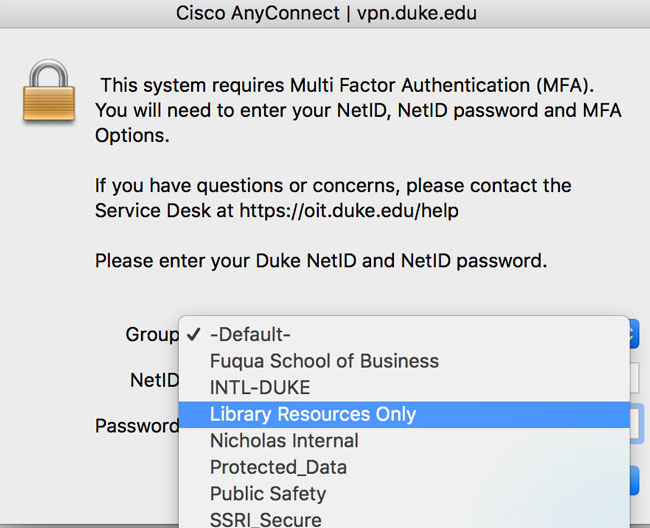 Off-Campus Access to E-Resources | Duke University Libraries